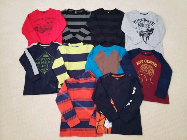 Boys long sleeved shirts size 4-5T