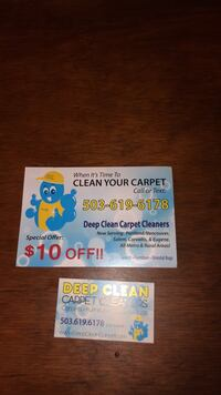 Steam cleaning carpets, rugs, furniture  Wilsonville