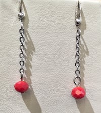 red and silver beaded necklace Toronto, M1B 4Y7