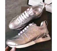 ladies Louis Vuitton silver sneakers Chicago