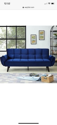 Biscuit back convertible sofa