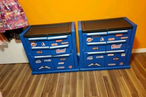 Tool box storage or dressers for boys.