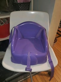 Booster seat with straps.
