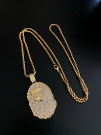 Bathing Ape Iced our link necklace