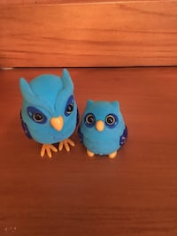 two blue owl plastic toys