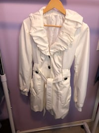 white button-up coat