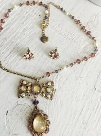 Betsey Johnson necklace & earrings