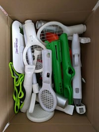 box of Wii accessories