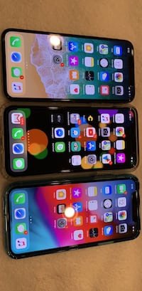 three assorted-color iPhone X's Bristow, 20136