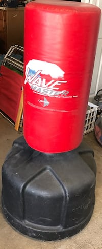 red and white Wave Master freestanding punching bag Draper, 84020