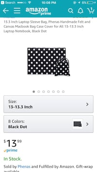 Black-and-white polka-dot laptop sleeve bag and drawstring pouch  New Milford, 07646
