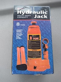 Heavy Duty Hydraulic Bottle Jack, 8 Ton Capacity BNIB  1 for $50 or 2 for $80   ONE FOR $50 or 2 FOR $80  Brand new in the box.  Many available for purchase... Shipping is also available.   Hydraulic bottle jack designed for residential and commercial use Toronto