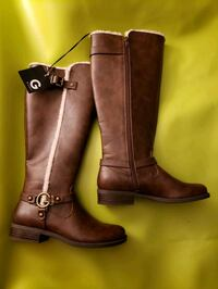 GUESS DESIGNERS Brown Leather Boots