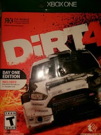 Xbox One dirt4 game case