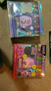 two blue and pink plastic toy packs Allenhurst, 31301