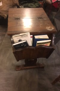 2 Antique wooden end tables