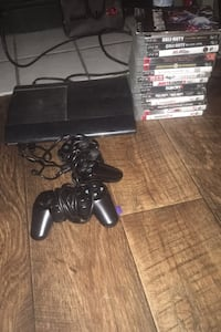 Game console with three controllers and all games included