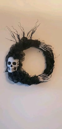 Halloween Black Skeleton Wreath Charlotte