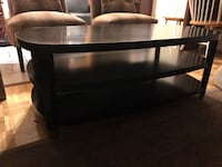 black wooden 3-layer TV stand Stow, 44224