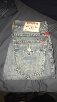 gray True Religion denim bottoms