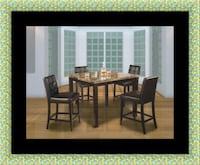 Marble tall table with 4 leather chairs Greater Landover