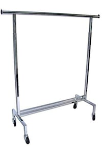 Heavy-Duty Commercial Grade Chrome Clothing Rack on Wheels Toronto, M5P 2V5