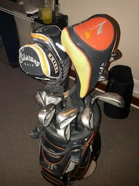 black golf bag with golf club set Winnipeg, R2C 1X3