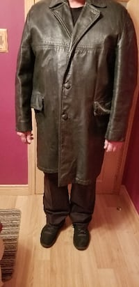 Leather 3/4 Men's Coat Hamilton