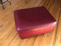 Red leather ottoman Toronto