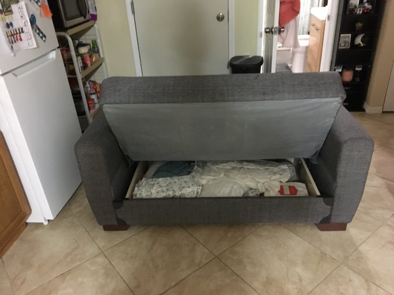Sold Nice Small Sofa Bed With Storage