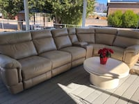 gray leather tufted sectional sofa Apache Junction, 85119