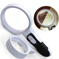 Brand New Lighted Magnifying Glass 10X + 5X Double Lens Set, High Power Handheld Magnifier Glasses with Led Light for Reading, Coins, Stamps, Jewelry, Inspection, perfect for Macular Degeneration Seniors 圣地亚哥, 92126