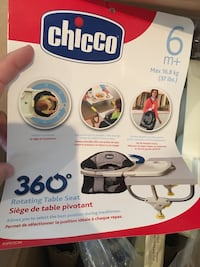 Brand new in packaging (never used) Chicco 360 degree table seat Toronto, M6N 4P6