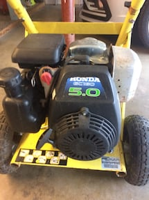 Pressure washer needs hose and gun comes with 5 nozzle attachments