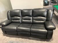Leather Reclining Sofa Set (3 pieces)