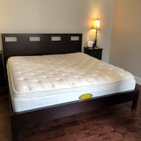 King bed frame and mattress