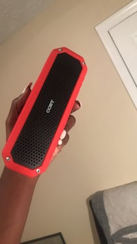 red and black portable speaker Lithonia, 30058