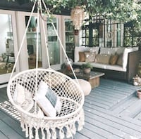 Handmade Knitted Hanging Swing Chair for Indoor or Outdoors