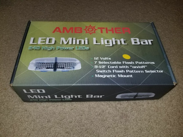 Used amb ther led mini light bar box in copperas cove letgo used amb ther led mini light bar box in copperas cove aloadofball Choice Image