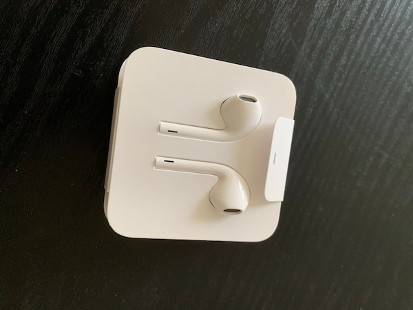 Apple EarPods and connector from iPhone XR