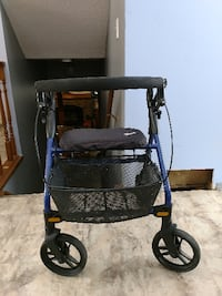 black and blue rollator
