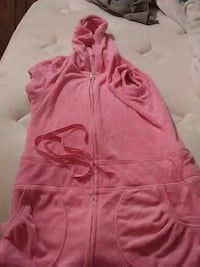 girl's pink hooded rompers Foley, 36535