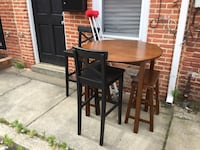 Tall table and 4 chairs + 2 crutches = FREE. Currently curbside outside 2005 Portugal St. Thank you.