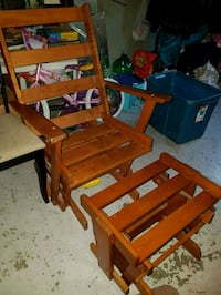 brown wooden rocking chair lot Edmonton, T5E 2M7