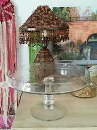 Large glass footed wedding cake stand Provo, 84601