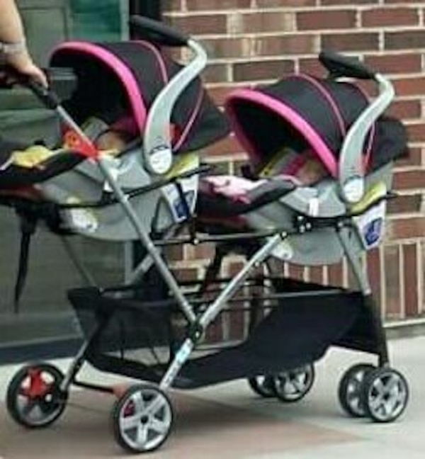 Twin Double Stroller Car Seats With Extra Bases