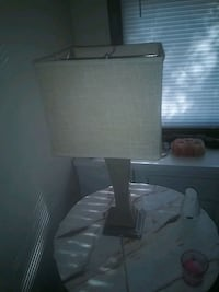 white and gray table lamp Jacksonville, 32244