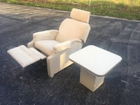 Recliner chair/ end table/ delivery available  877 mi