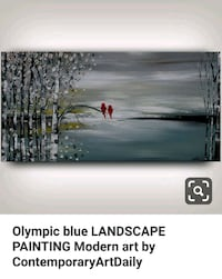 Olympic Blue Landscape Painting