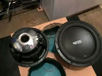 two black and gray subwoofers Salinas, 93905